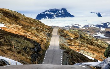 Road,ice,norway,peaks,mountains