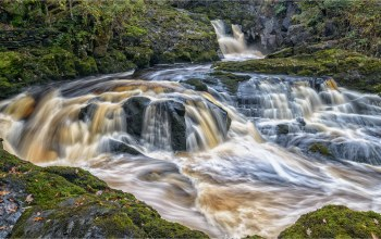 england,ingleton,Beezley falls,north yorkshire,ingleton waterfalls trail,инглтон