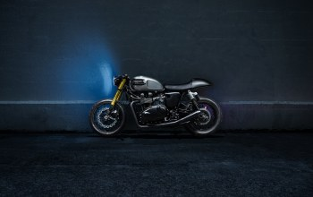 bike,racer,custom,bonneville,motorcycle,side,the bullitt,Triumph