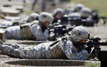 soldiers,pose,training,rifles