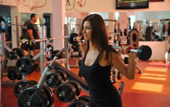 Weight bar,gym,female,workout
