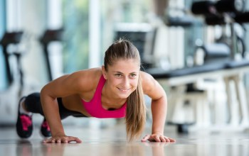 woman,Pushups,workout