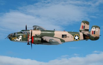 пятиместный,North american b-25 mitchell,двухмоторный