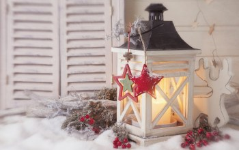 star,reindeer toy,Window,merry christmas,lantern,cherry,snow