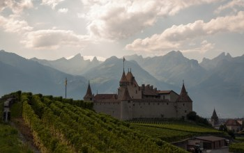 alps,Chateau daigle,Switzerland,замок эгль,швейцария,aigle castle