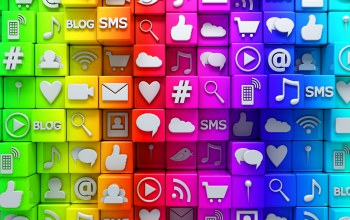 icons,colorful,social,cubes,иконки,кубики