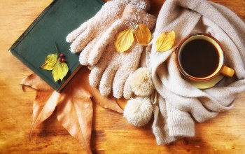 шарф,осень,leaves,кофе,coffee,autumn,cup