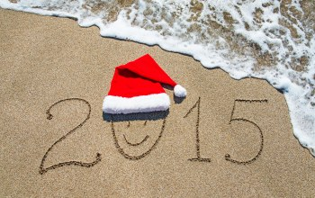 2015,santa hat,happy,beach,c новым годом,sand
