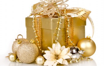 Merry,рождество,xmas,decoration,golden,gift,box,christmas