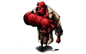 Hellboy,look,Red