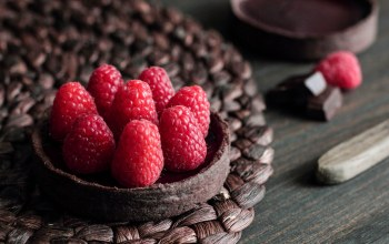 Chocolate raspberry tart,малина,пирожное