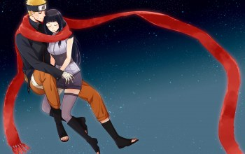 наруто,хината,шарф,naruto the movie the last