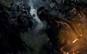 lara croft,скелеты,rise of the tomb raider,tomb raider