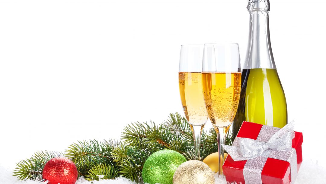 Happy new year,snow,Champagne,glasses,gifts,ornaments,balls,merry christmas,winter,holiday