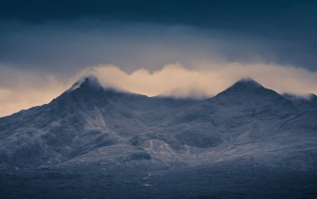остров скай,isle of skye,scotland,Cloud topped cuillins,Шотландия