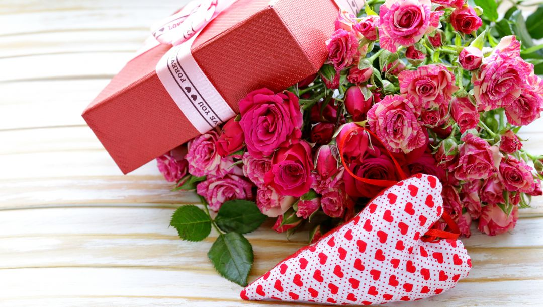 gift,roses,Valentines day,heart,Коробка