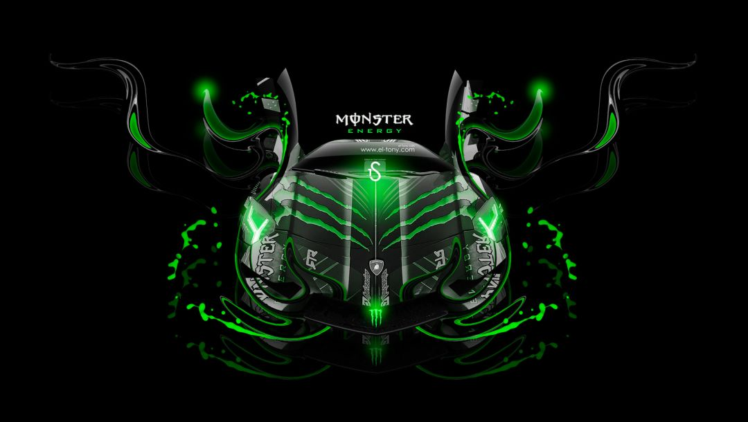 el tony cars,Tony kokhan,Lamborghini,fantasy,Monster energy,design