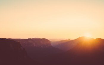 Australia,sunrise,canyon,blue mountains,mountain
