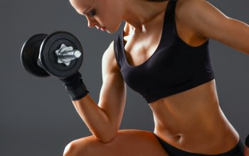 woman,arms,Dumbbell,workout
