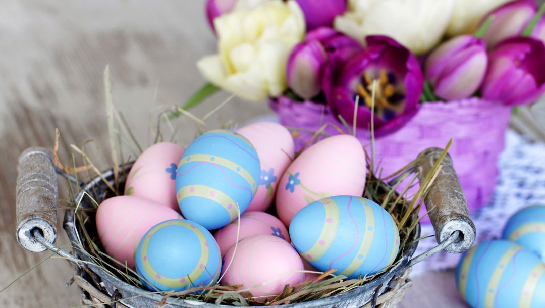 happy,tulips,Easter,яйца,Holidays,colorful
