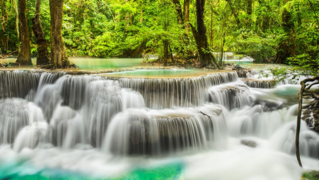 landscape,river,waterfall,водопад,forest,emerald