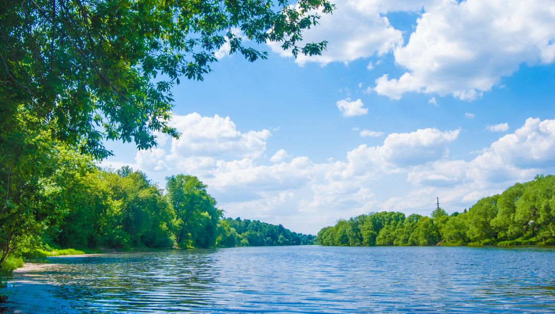 beautiful nature,clouds,River lune,trees,sky,landscape,deep forest