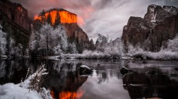Yosemite,park,landscape,fire,light,ice,california,clouds,monument,national,forest