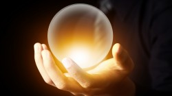 light,antigravity,Magical crystal ball,hand