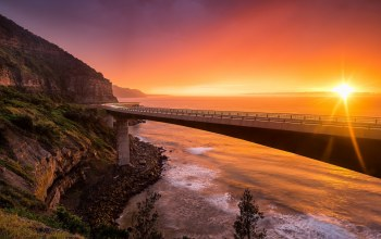 nsw australia,Пейзаж,sea cliff bridge