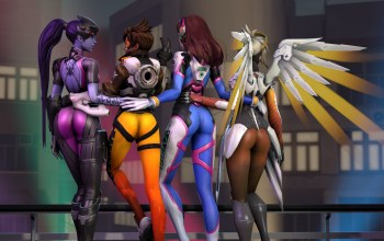 mercy,D.va,Widowmaker,hana song,angela ziegler,lena oxton,Tracer,overwatch