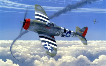 war,ww2,drawing,painting,dogfight,P 47 thunderbolt,aircraft,air combat,aviation
