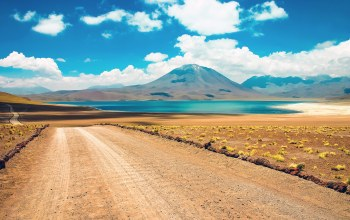 atacama,Road,cloud,mountain,chile,desert