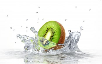 брызги,water,white background,sprays, вода,киви,kiwi