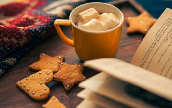 Звезда,winter,cup,Biscuits,cocoa,book,heart,star,holiday
