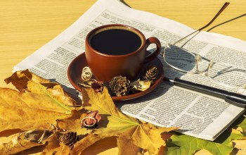 кофе,шарф,осень,leaves,coffee,cup,autumn