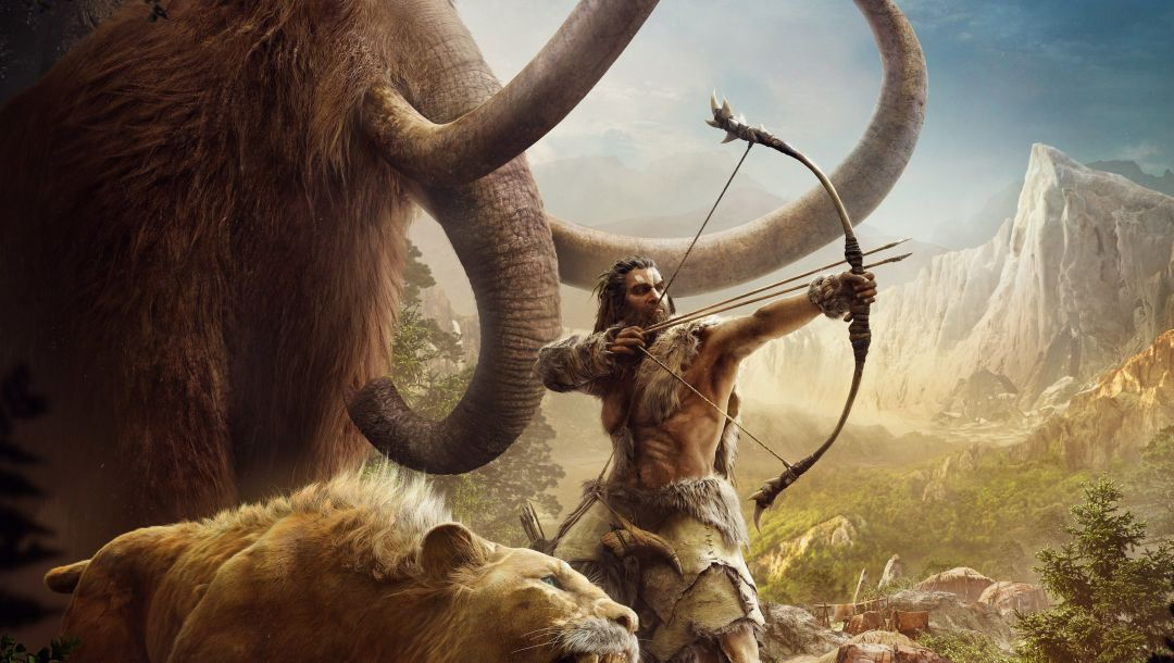 Far cry primal,мужчина,ubisoft,звери