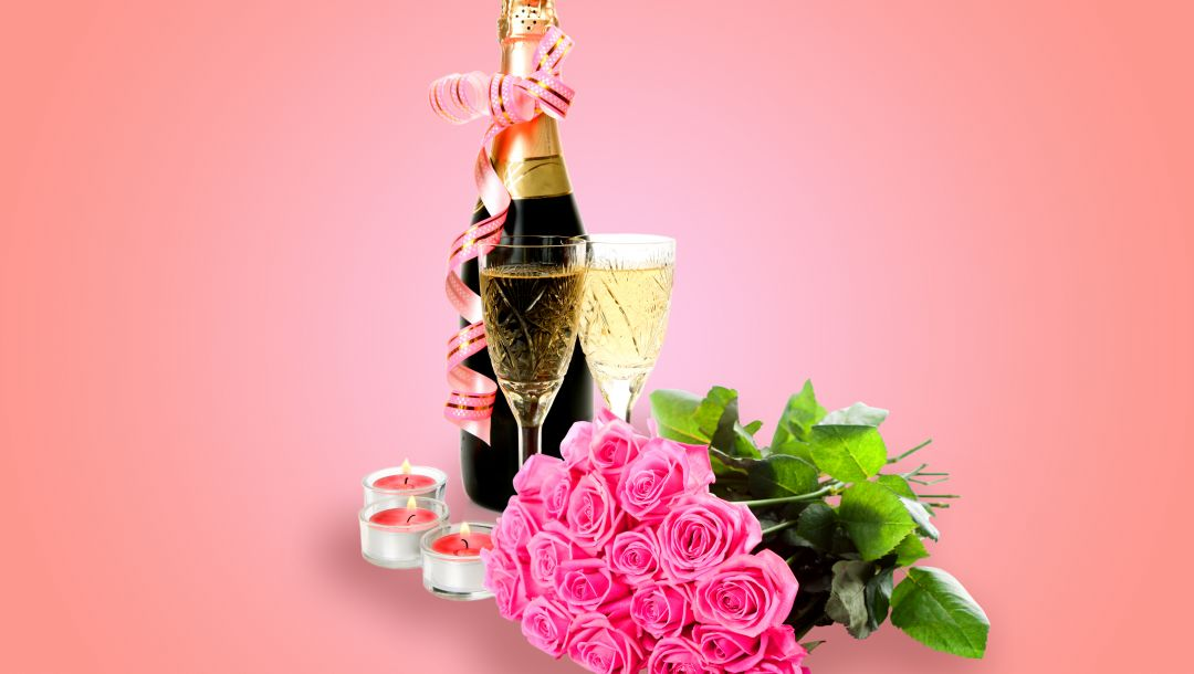 glass,Valentines day,бокалы,Champagne,roses