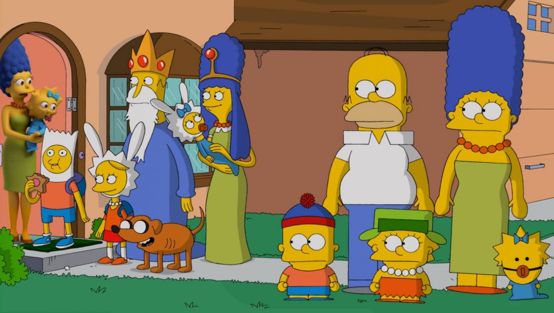 adventure time,bart,south park,Liza,Maggie,the simpsons,marge,gomer,Parody