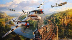 P 38,war,attack,bomber,painting. drawing,art,dogfight,ww2,american fighter,combat