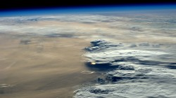 Earth from space,Sunset,clouds