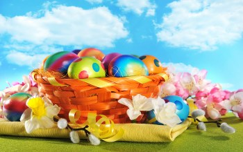 happy,wood,Easter,colorful,holiday,цветы,яйца,spring,eggs