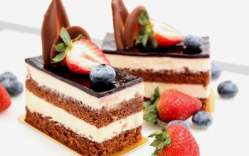 пирожное,chocolate,sweet,cake,Strawberry,berries,торт