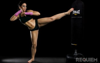 Kick,girl,workout,Kickboxing