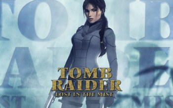 туман,lara croft,пистолеты,Tomb raider: lost in the mist