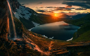 norway,Sunset,northern,norway,sunrise,mountains