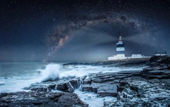 шторм,Hook lighthouse ,маяк,ireland,wexford