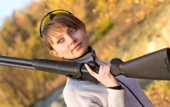 Shotgun,outdoor,woman