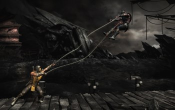 Mortal kombat x,scorpion,гарпуны