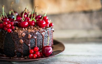 выпечка,chocolate,cherry,сладкое,sweet,baking,cake,торт