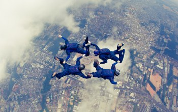 Облака,4-way fs,парашютизм,formation skydiving,парашютисты